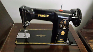 Sewing machine (Singer) in a cabinet. Largs North Port Adelaide Area Preview