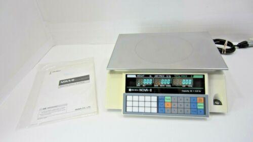 Ishida NOVA II 30lb 30x.01lb Nova-II Commercial Deli Scale