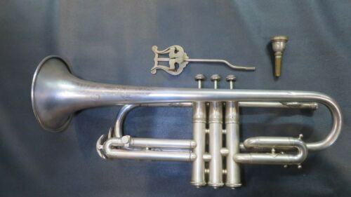 VINTAGE c.1922 THE ELKHART CORNET A/Bb w/ CASE MOUTHPIECE PRO INSPECTED TESTED