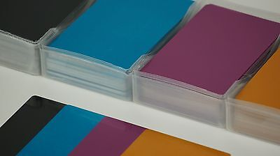 Colorful Blank Metal Business Cards 100pcs Laser Mark Engraveable Material Thin