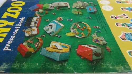 Vintage Whitman TINY ZOO Press-out Book 1974 FREE FAST SHIPPING!