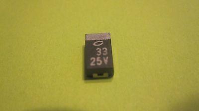 Tantalum Capacitor 33mf 25v Volt Smd 2 Items