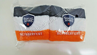 10 Pack New Sam Adams Octoberfest Wrist Sweat Bands Blue White Orange