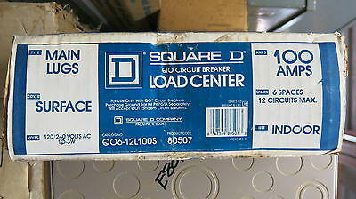 Square D Q06-12100s 100 Amp 120240 Volt 1 Phase Load Center- E1385 New