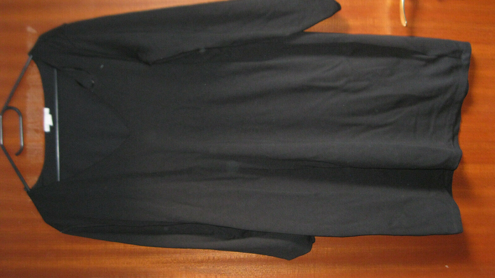 Kleid, schwarz, V-Ausschnitt, Knielang, Gr. XL, H&M