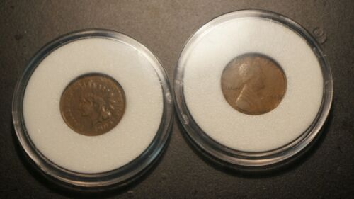 LOT OF 2 1909 PENNIES INDIAN HEAD AND LINCOLN WHEAT NICE CONDITION