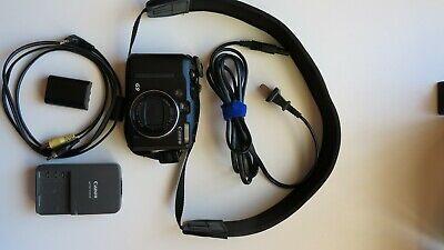 Canon PowerShot G9 12.1MP Digital Camera - Black inc battery charger,neck strap