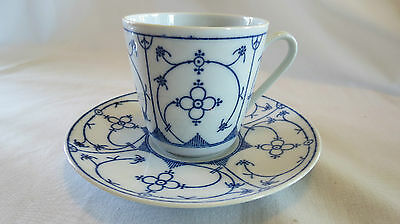Art Pottery Bareuther Waldsassen Bth60/blue Full Lace Cup & Saucer Pottery & China