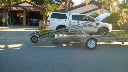 Car trailer for motorhome with boat laoder Ballajura Swan Area Preview