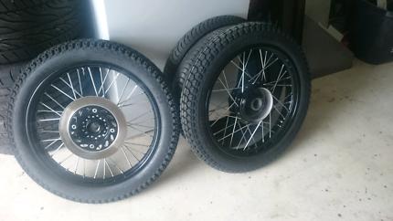Honda Cd250u custom wheel set.  Cafe racer / Street tracker/vinta