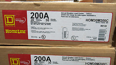 Square D Homeline 200 Amp Main Breaker 120240 Volt 30 Circuit Load Center New