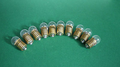 10 Glühbirnen 6V 0,3A DDR E10 Glühlampen Momentbeleuchtungslampen