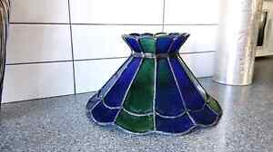 Stained glass Tiffany Style hanging lamp shade 1970s Moorabbin Kingston Area Preview