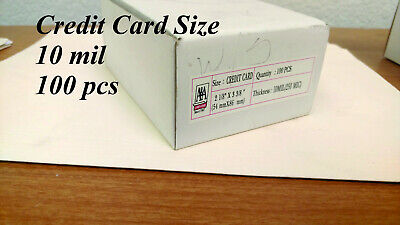 Credit Card 10 mil 100 Pcs FREE SHIPPING Laminating Pouches - Credit Card Laminate Pouch