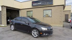 2011 Chevrolet Cruze LTZ Turbo Power Sunroof, Blk Leather Int...