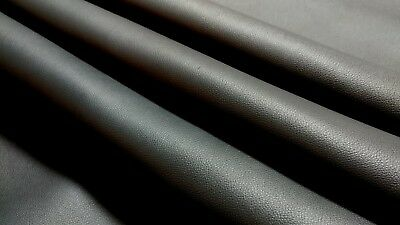 BLACK LEATHER Full COWHIDE Craft & Upholstery Medium Temper 2-3 oz   ()