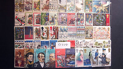 50 ALL DIFFERENT USED G.B. Q.E.ll COMMEMORATIVES. ( 0114 )