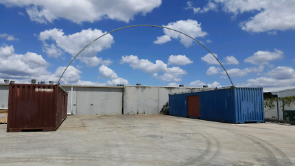 2 x 40 foot Shipping  Containers with Dome Shelter