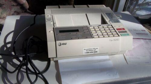 Vintage ATT Digital Fax Machine Copier Fax 3520D AT&T 1988