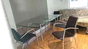 GLASS TABLE WITH  CHAIRS Echuca Campaspe Area Preview