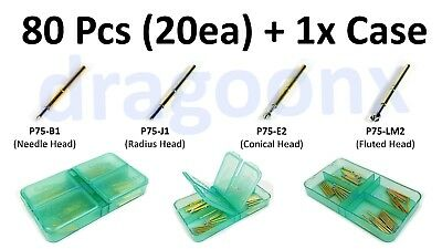 80pcs Spring Test Probe Pogo Pin Kit P75-b1 P75-j1 P75-e2 P75-lm2 20x Each