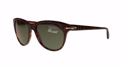 Neu Sonnenbrille Persol PO3134S 24/31 51 17 140 Havana Rahmen Grün Gläser Fast