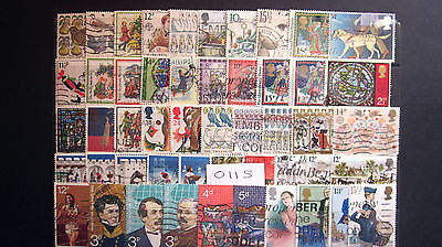 50 ALL DIFFERENT USED G.B. Q.E.ll COMMEMORATIVES. ( 0115 )