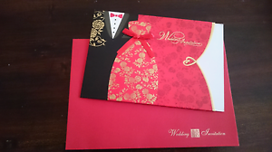 Unused wedding invitation cards (Chinese style) Kingsgrove Canterbury Area Preview