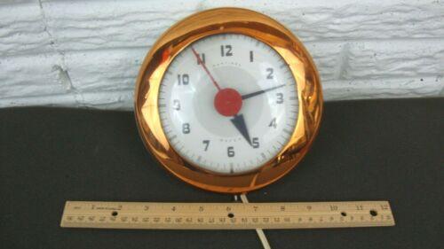 VTG Wafer Sentinel Electric Wall Clock SK174 Retro Art Deco E. INGRAHAM Co USA