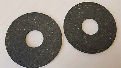 2 Pto Clutch Friction Discs 6.50 Od X 2.00 Id .127 Thick For Ford Cutter