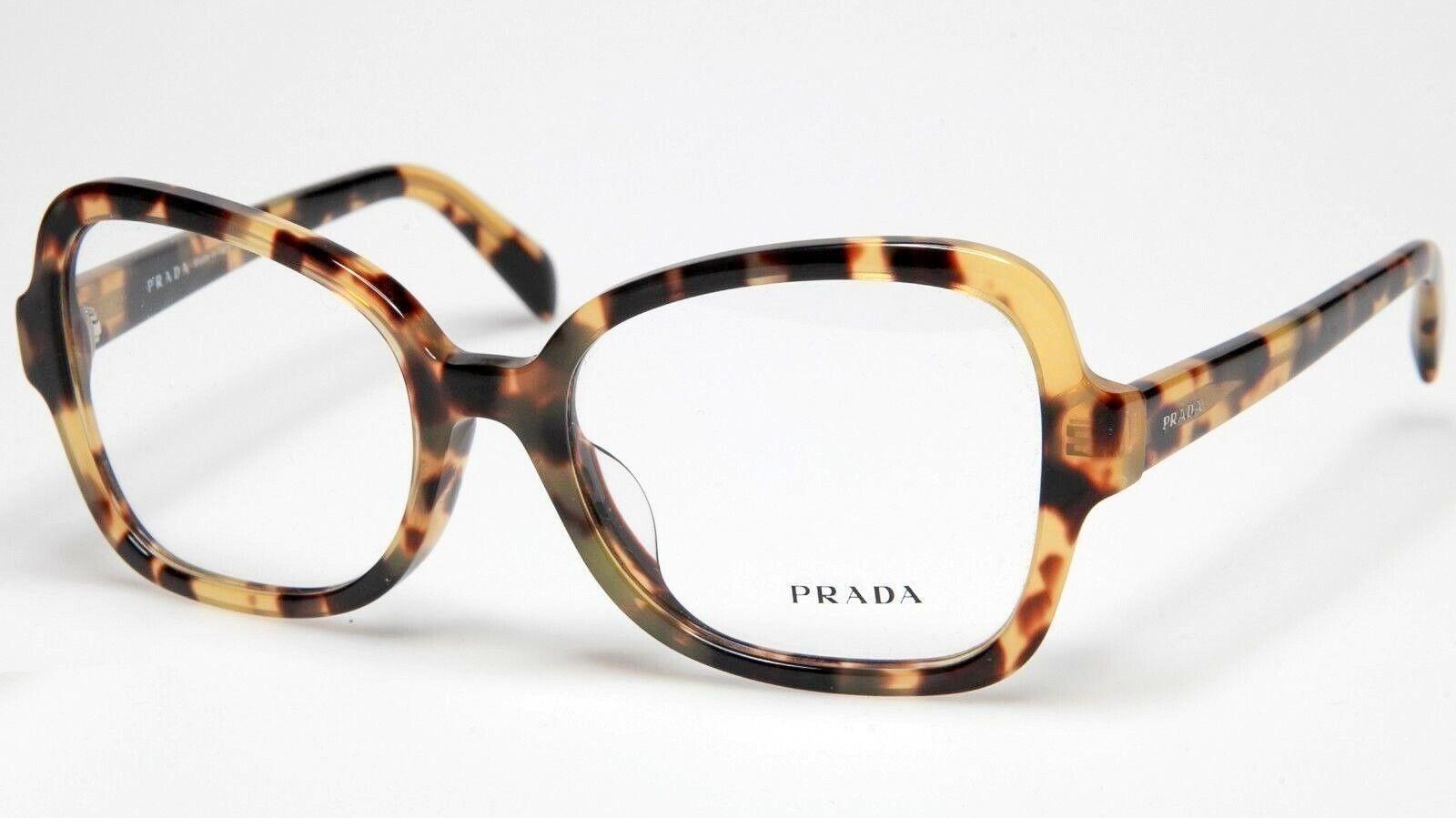 PRADA VPR 25S F 7S0-1O1 Eyeglasses Glasses Yellow Brown Hava