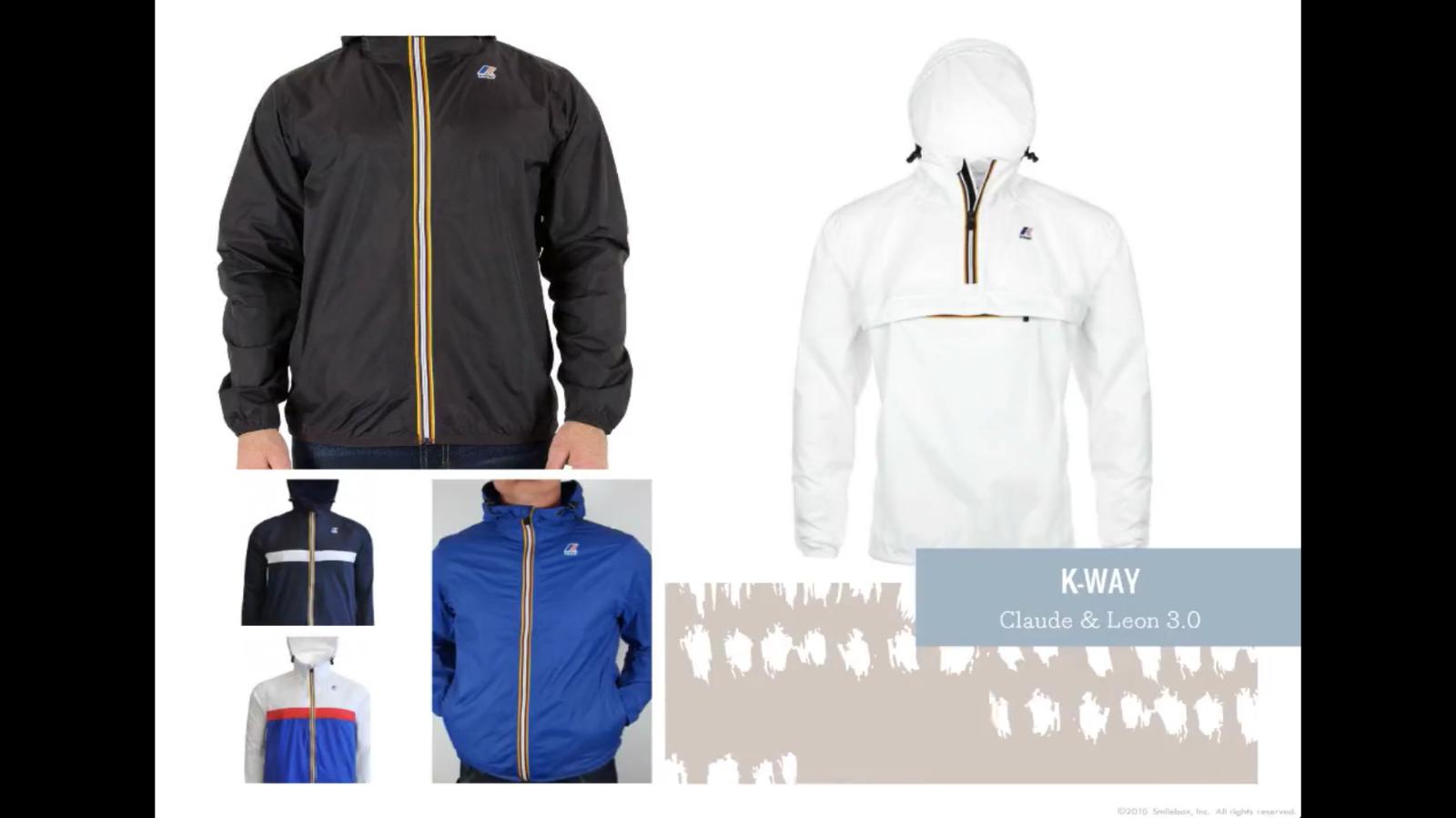762f688487 K-Way Men's Le Vrai Claude 3.0 Jacket LET IT RAIN