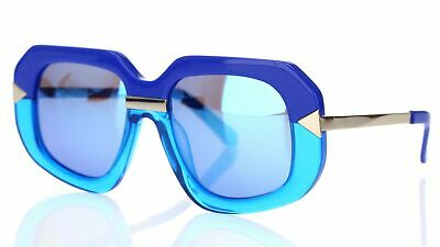 Karen Walker 161339 HOLLYWOOD CREEPER 1501408 Sea Blue Mirrored Sunglasses (Creeper Sunglasses)