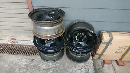 5 x 80 series steel wheels