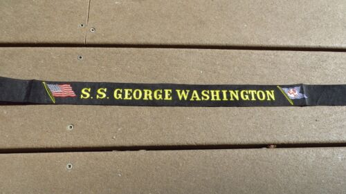 SS George Washington United States Lines Cap Hat Tally  Maritime Cruise Ship