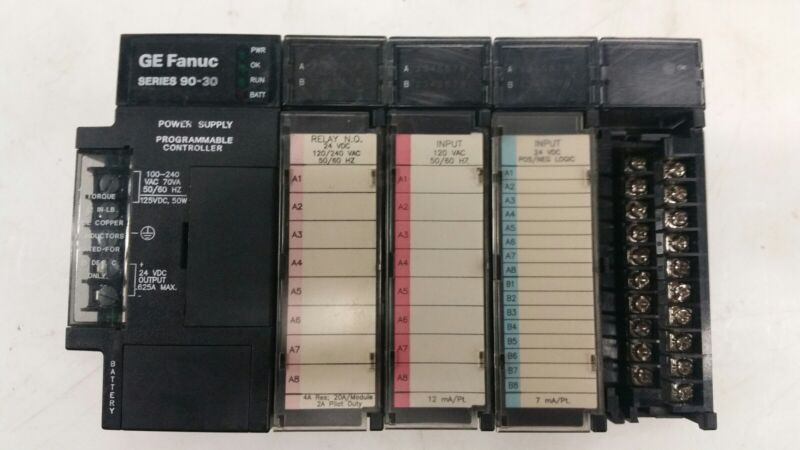 GE FANUC Series 90-30 (5-SLOT BASE) PROGRAMMABLE CONTROLLER.