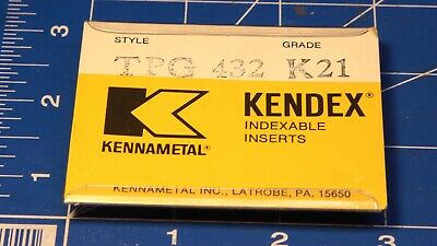 Kennametal Kendex Insert Tpg 432 K21 New Old Stock