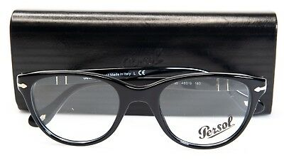 NEW PERSOL 3036-V 95 BLACK EYEGLASSES GLASSES FRAME 3036V 48-19-140 B40mm Italy