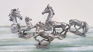 Horses! Solid Pewter Figurines. Grafton Clarence Valley Preview