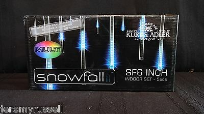 New MULTI Kurt Adler Modern Snowfall Indoor LED LIGHT SF6 6-Inch Tube ADAPTER