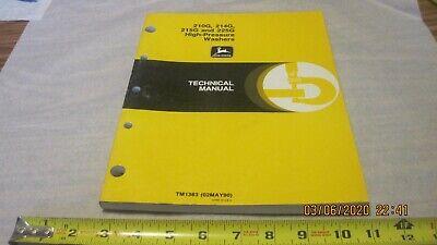 John Deere 210214215225g High Pressure Washers Tm 1383 Used