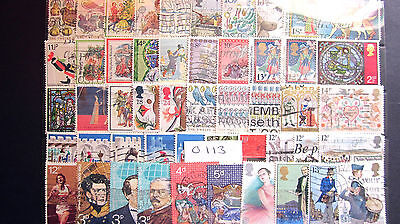 50 ALL DIFFERENT USED G.B. Q.E.ll COMMEMORATIVES. ( 0113 )