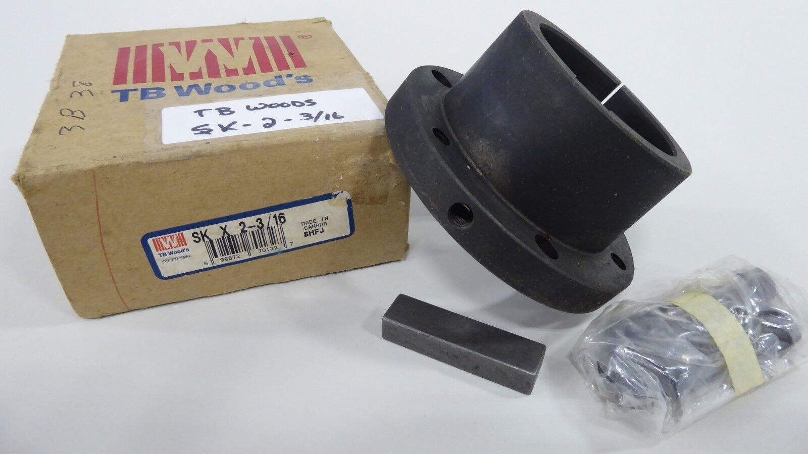 """TB Woods SK-2-3/16 Quick Disconnect SK Bushing 2-3/16"""" bore"""