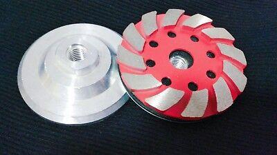 4 Diamond Aluminum Based Segment Grinding Cup 19 Piece Concrete Stone Granite