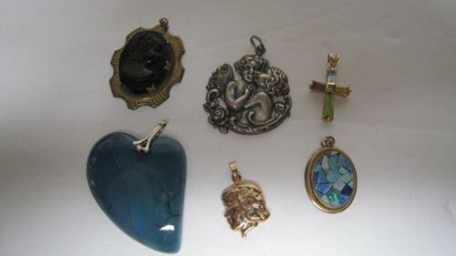 Various Charms Pendants Findings Angels Cherubs Heart Cameo Cross Opal
