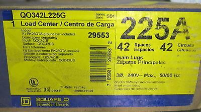 Square D 225 Amp Main Lug 3 Phase 120208-240v 42 Circuit Load Center- E1419 New