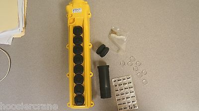 8-Button Hoist Pendant Case Assembly Deep Back (No switches included) 80 Series