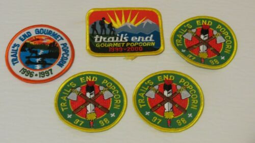 Lot of 5 Scouts Canada Patches Badges - 1990s Popcorn Trail