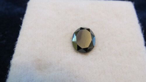 HEMATITE ~ Genuine LOOSE Gemstone 12X10mm OVAL Shape Faceted CABOHCON ~ 6.00CT