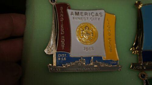 Lions Club Pins PIN TRADER-1997 USS SAN DIEGO CL-53 HISTORIC BATTLESHIP SERIES